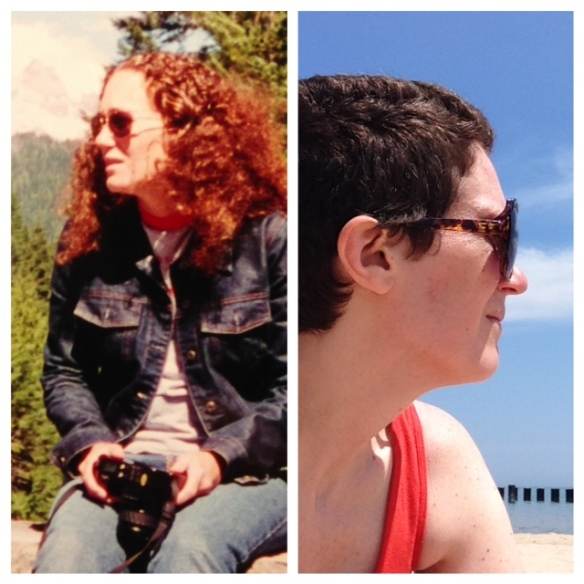 Me at 25 (left); and 37 (right).